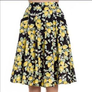 Hell Bunny Lemon Circle Skirt